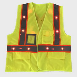 LED Working Safety Vest