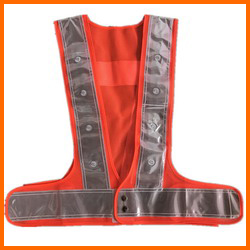 Orange Mesh LED Flashing Safety Vest