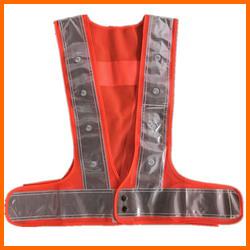 Orange Mesh LED Flashing Safety Vest