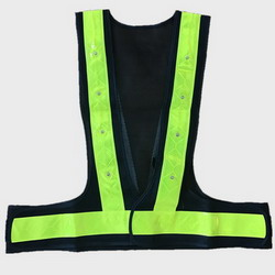 Green LED Lights Cycling Safety Vest