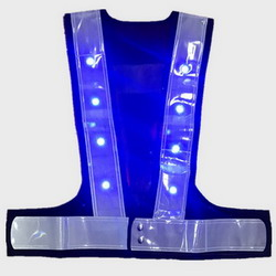 Flashing LED Blue Red Safety Vest