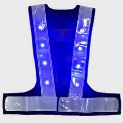 Flashing LED Blue Red Safety Vest