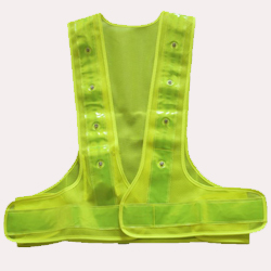 Red White LED Flashing Safety Vest