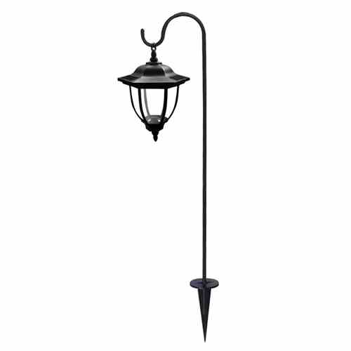 Solar Lights Outdoor, Hanging solar Coach Lantern with Shepherd Hooks