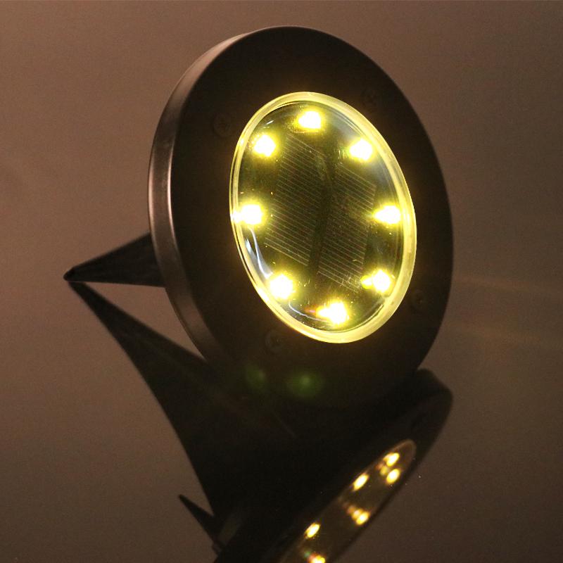 NEW design black model 8LED solar ground light