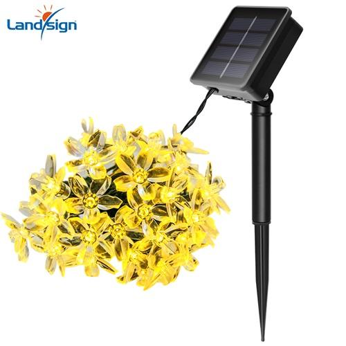 الشمسية حديقة عيد الميلاد ضوء نموذج زهرة الزخرفية