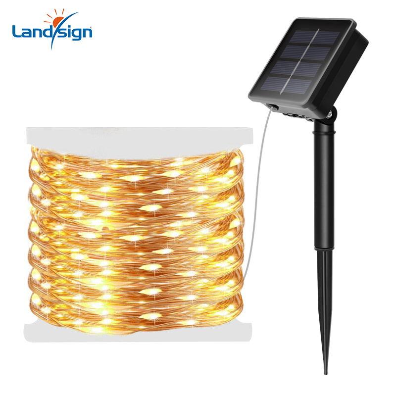 Solar holiday decoration string light