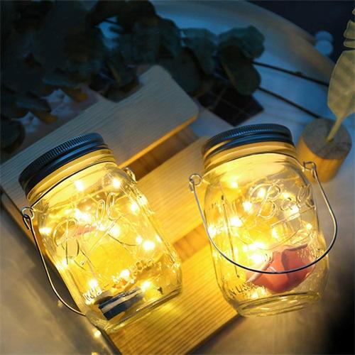 Solar Mason Jar Decoration Light