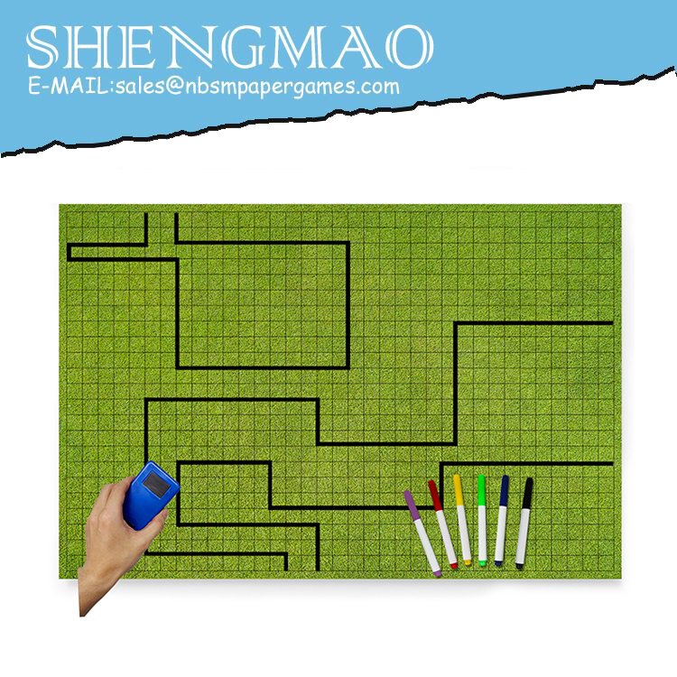 Paintable Game Board with Mark Pen and Dry Eraser