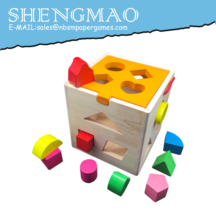 Wooden Colored Shape Sorter Toy