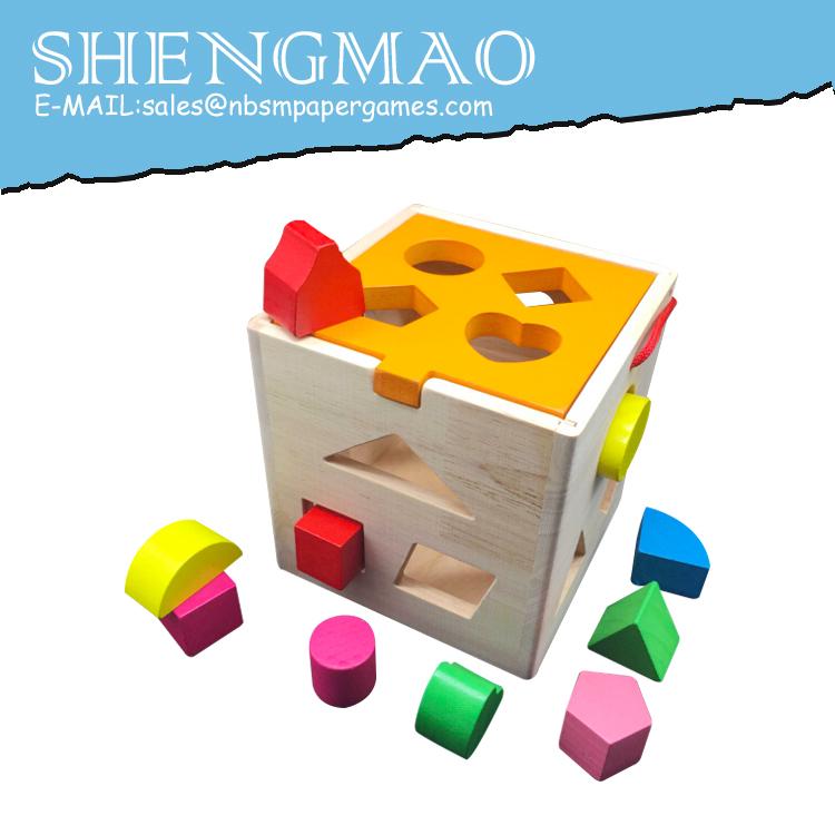 Koka Krāsains Forma Šķirotājs Rotaļlieta