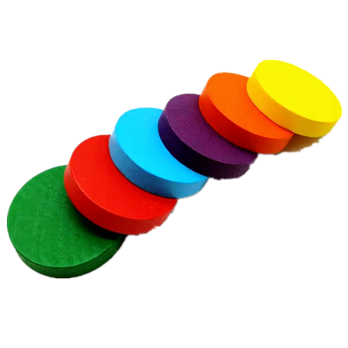 Colorful Round Wooden Chips