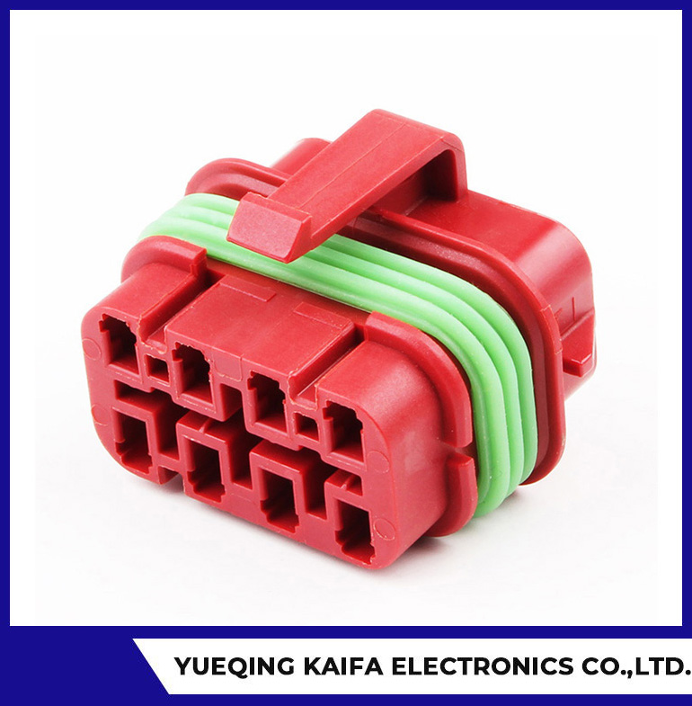 Red Automotive Wire Harness Connector Plug