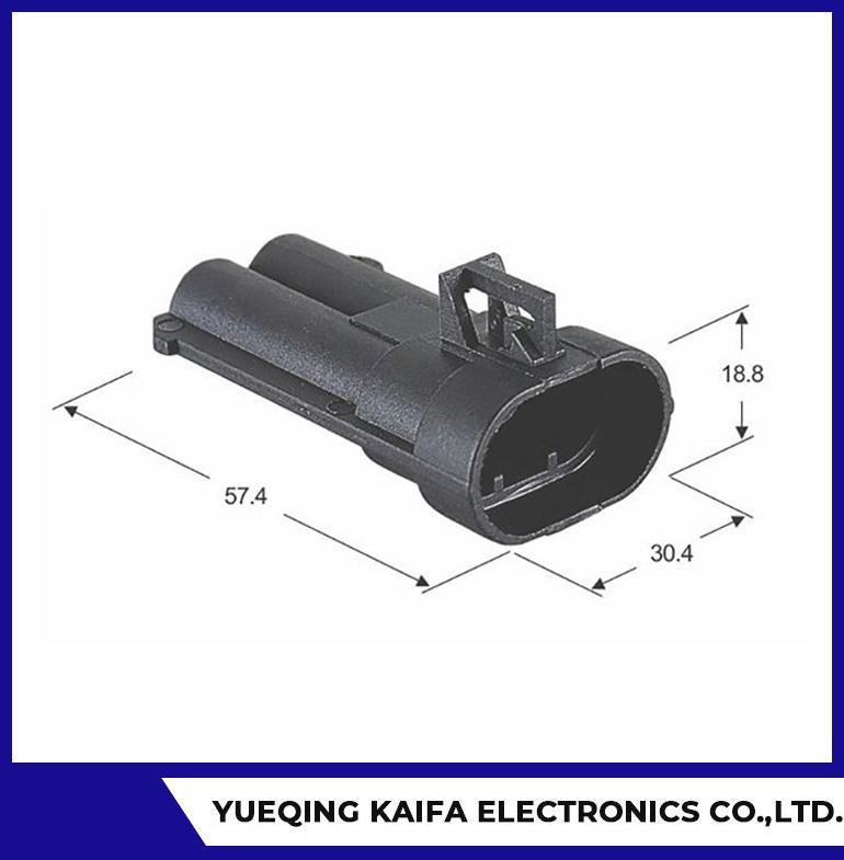 2 Pin Automotive Firewall Connector Plug