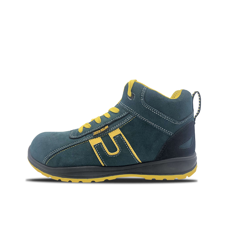 Suede Leather PU High Cut Safety Shoes