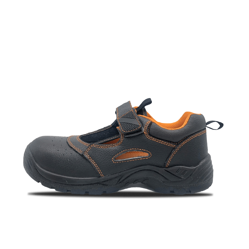 Embossed Leather Safety Shoes