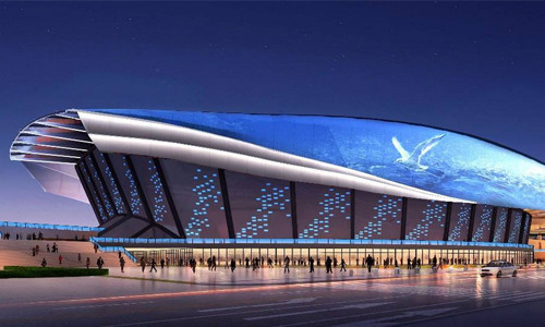 La sala de exposiciones principal de la Universiada de Shenzhen
