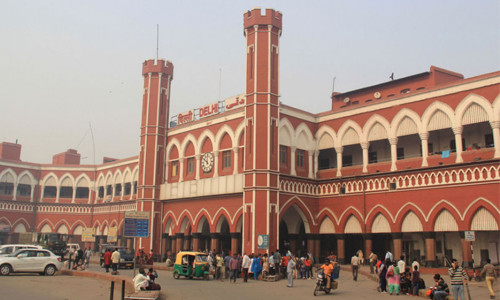 India Nueva Delhi estación de tren
