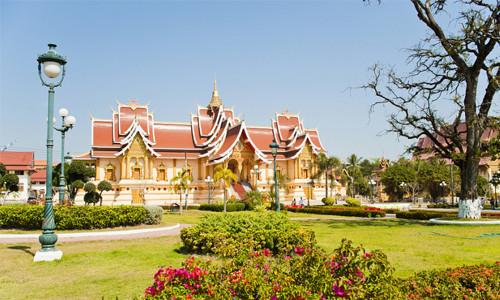 Laos Vientiane Asia-Europa Reunión oficial residencia villa