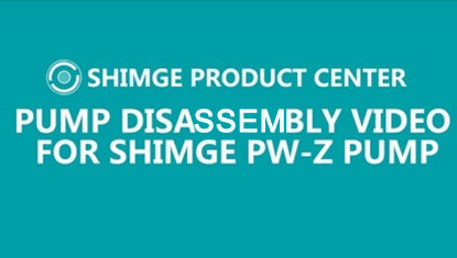 Pump Disassembly Video For SHIMGE PW-Z