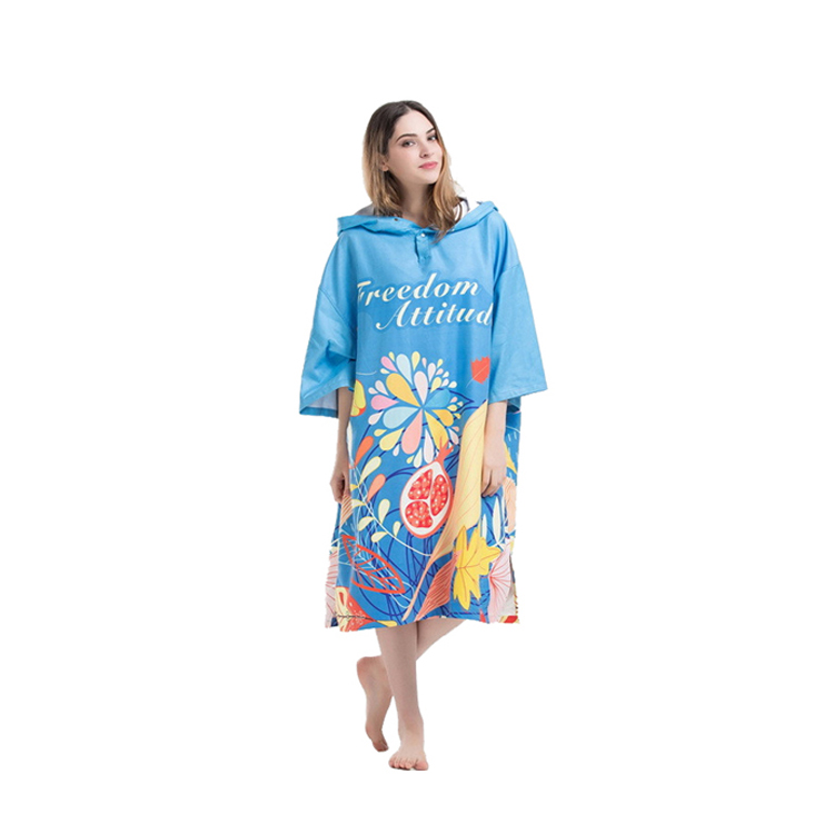 New Style Custom Surf Hooded Beach Poncho