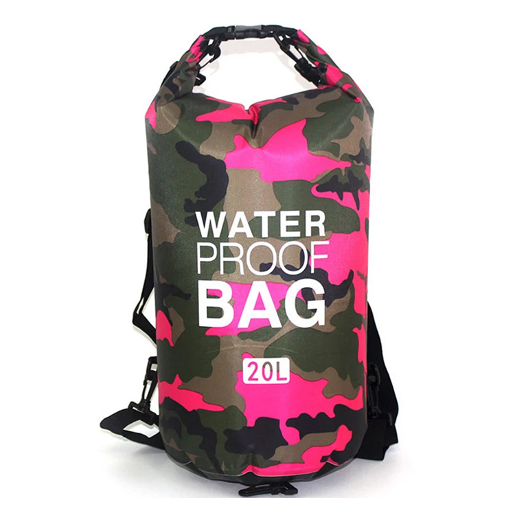 Camouflage Storage Dry Bag With Shoulder Strap