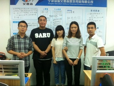 Welcome Swedish customer Mr. Mu to visit our company