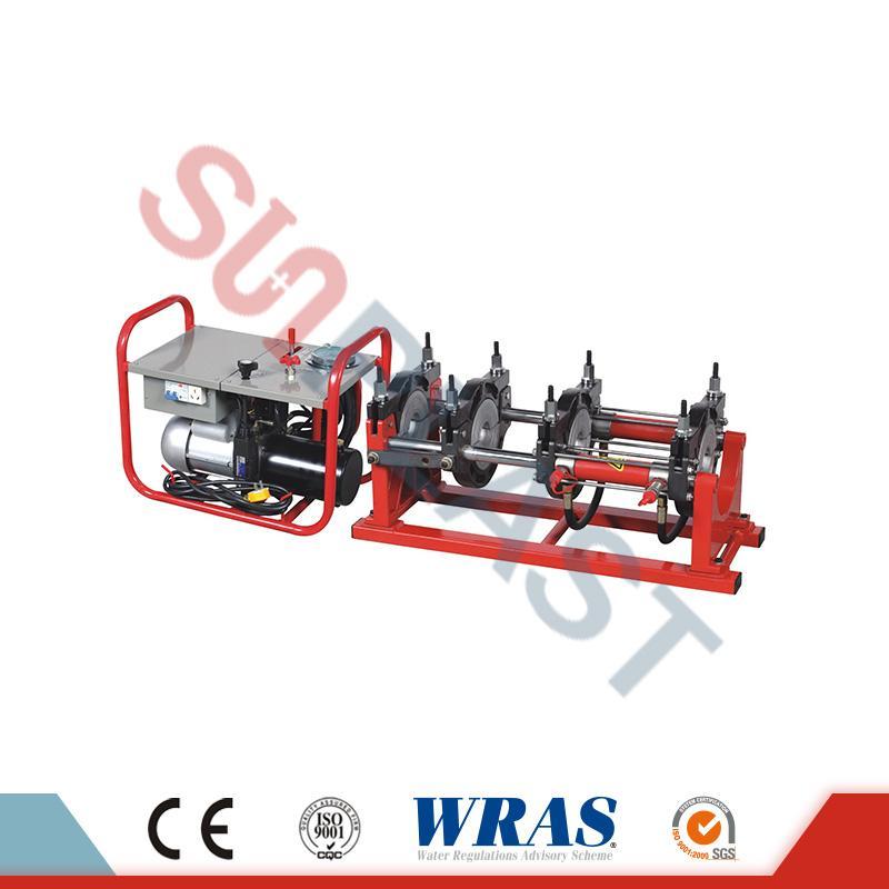 63-200 mm ruční / hydraulický svařovací stroj na tupé svařování pro HDPE potrubí