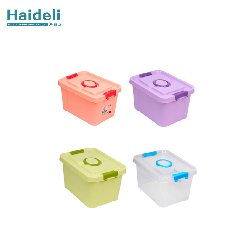 Plastic Decorative Storage Box With Lid