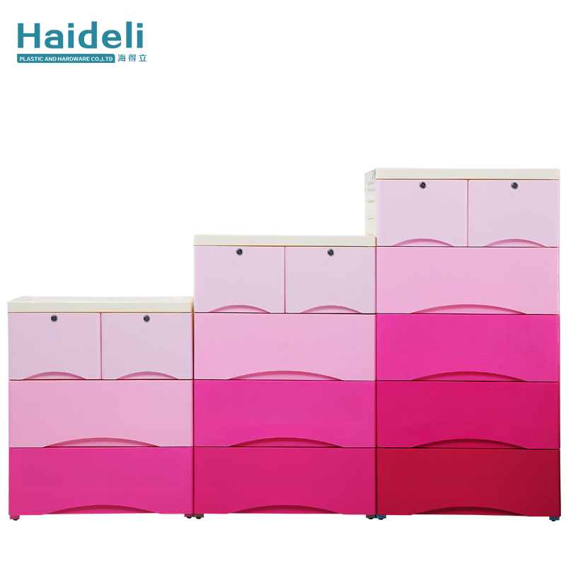 New Plastic Color Drawer Storage Cabinet