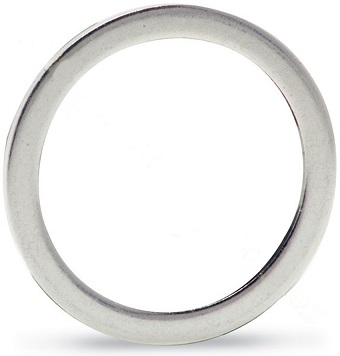 Silver plated OFHC Copper gasket