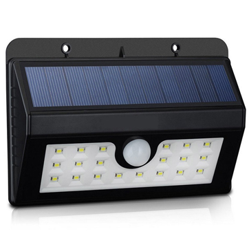 Sensor de moviment d'energia solar Wall Light