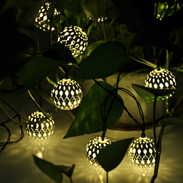 Solar Metal Ball String Light