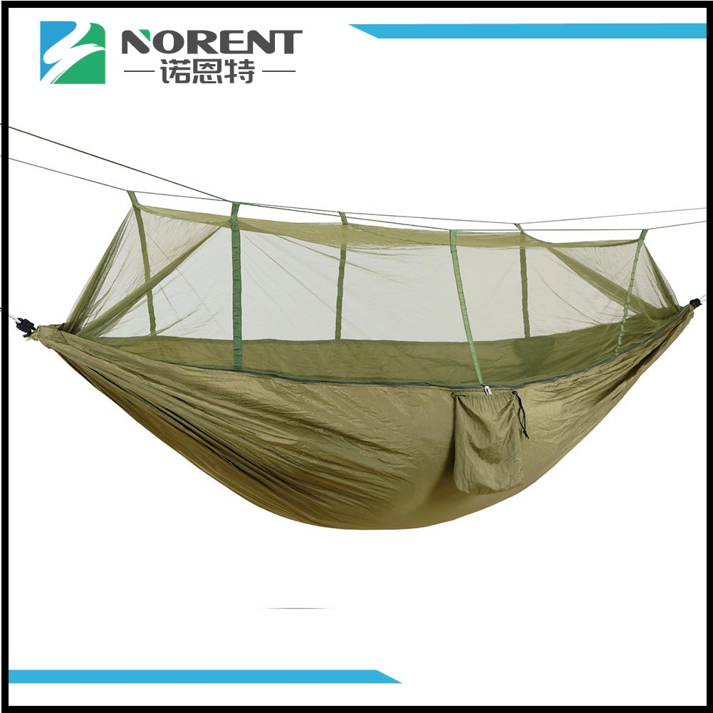 Tragbare kompakte Reise Camping Hängematte Army Green