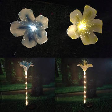 fiber optic flower decoration light