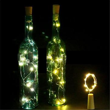 ضوء سلسلة الفلين زجاجة