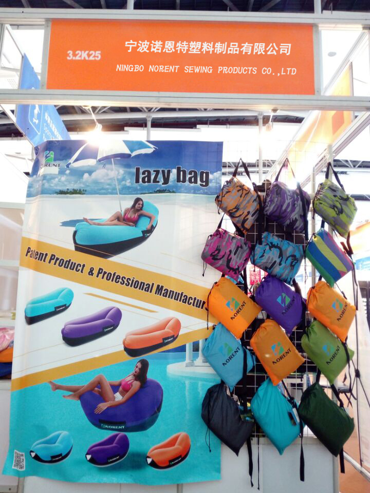 Patented Design Inflatable Air Lounger Get Most Favors in 2018 Spring Canton Fair
