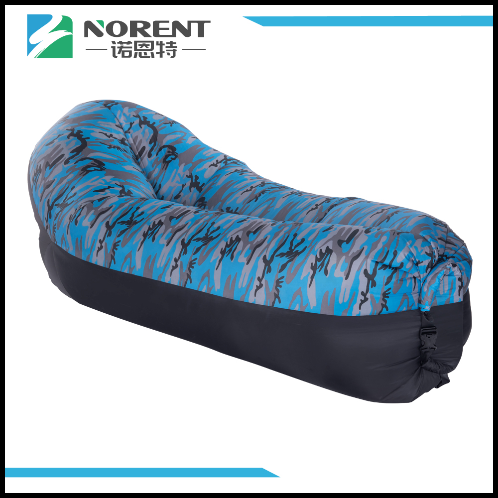 Air Lounger In Sleeping Bag