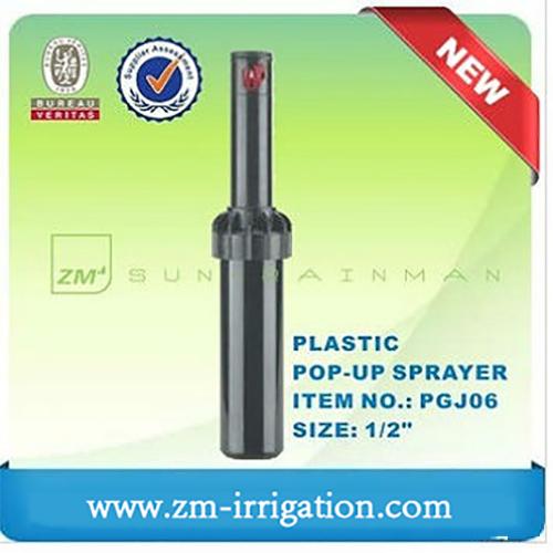 Testa dell'irrigatore pop-up in plastica