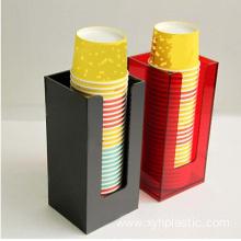 Custom acrylic drinking cups holder perspex coffee