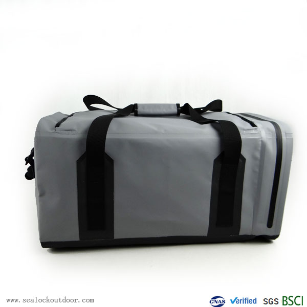 Gray Waterproof Duffle Bag 60Liter