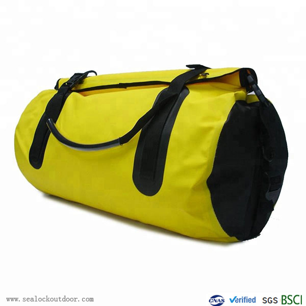 Yellow Waterproof Duffel Bag With PVC500D