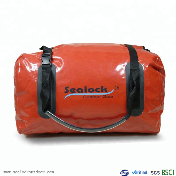 80Liter Waterproof Duffel Bag With Red Pvc
