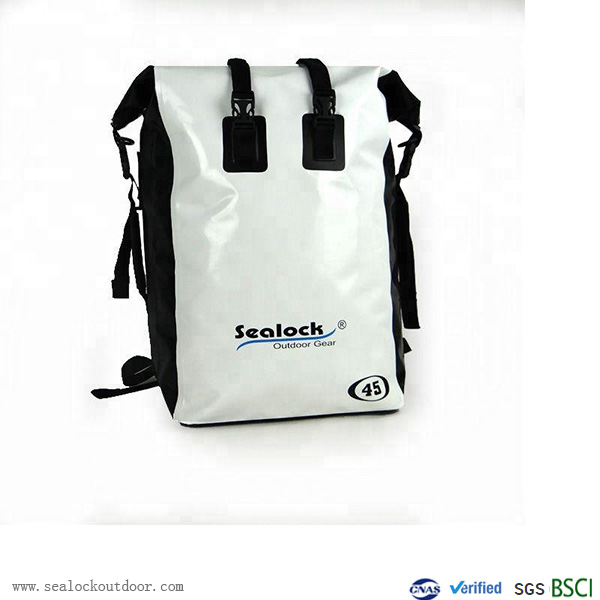 सफेद पीवीसी जलरोधक बैग