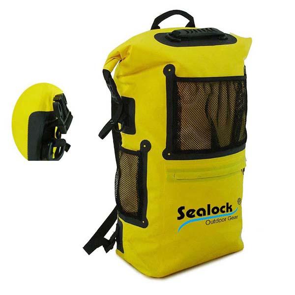 30 L पीला जलरोधक डेरा डालना बैग