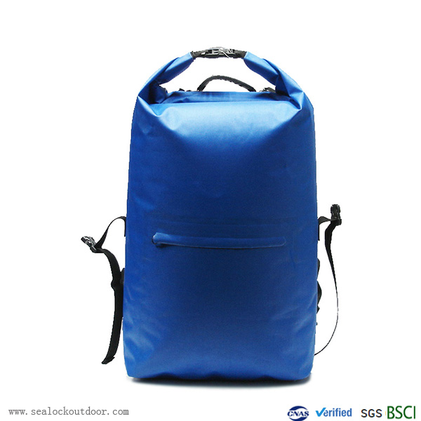 जलरोधक लंबी पैदल यात्रा बैग नीला