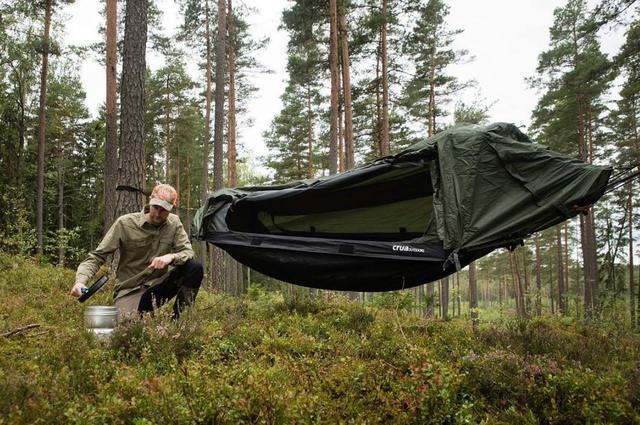 Utomhus camping fungera kung, CROA hybrid Hängmatta hängmatta tält!