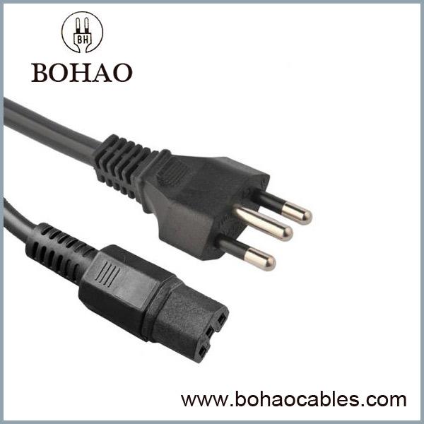 Braziliya IEC 320 C15 Güc Kordon
