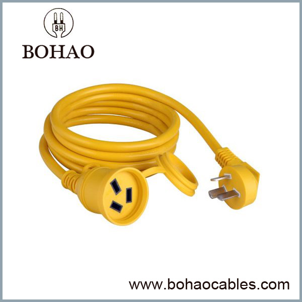Single Outlet 3 Wire Sambungan Kord