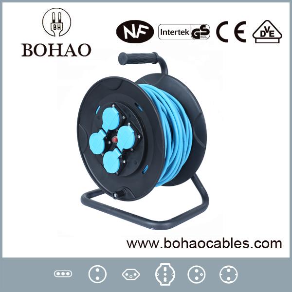 European Style 35m Plastic Waterproof Extension Cable Reel
